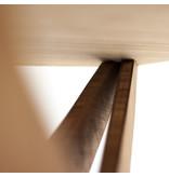 Circulair Cantor Kruis houten tafel