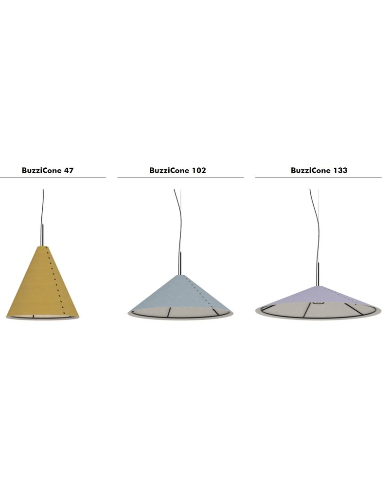BuzziSpace BuzziSpace BuzziCone akoestische hanglamp