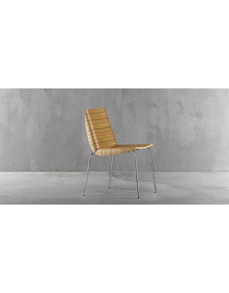 Plank Plank Millefoglie houten stoel stapelbaar