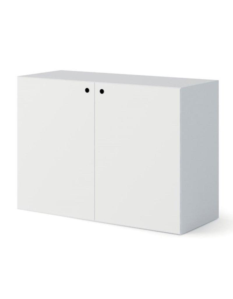 Fantoni Fantoni Quaranta5 lage bijzetkast met deuren (56cm hoog)