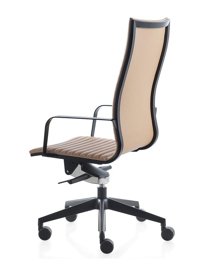 Kastel Kastel Kruna Plus Linear leren bureaustoel