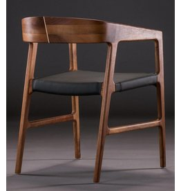 Artisan Artisan Tesa houten stoel leer