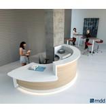 MDD MDD Valde gebogen modulaire receptiebalies / ontvangstbalies