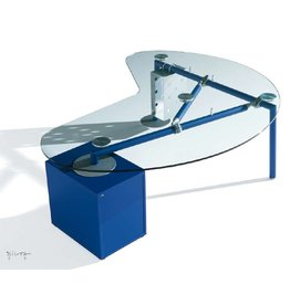 Ultom Ultom Isotta niervormig glazen bureau