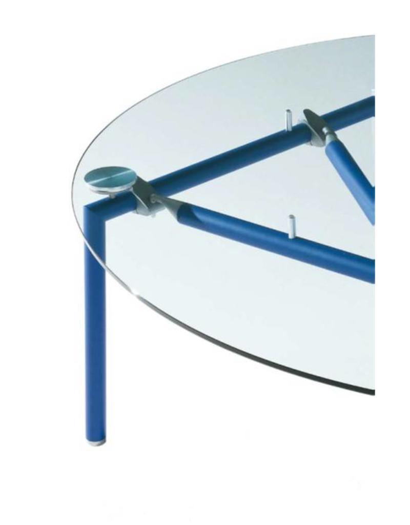 Ultom Ultom Isotta glazen bureau ovaal met vast ladeblok