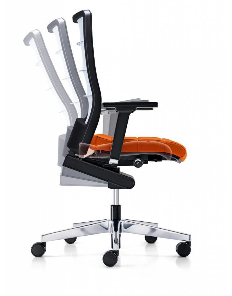 Interstuhl Interstuhl AirPad bureau stoel met 4D armleuningen, zitdiepteverstelling