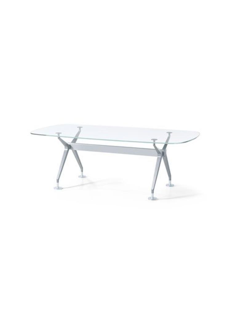 Interstuhl Interstuhl Silver glazen tafel / bureau