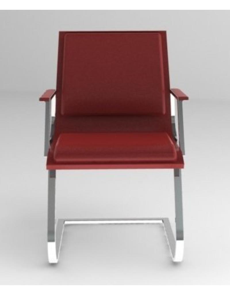 Luxy Luxy Nulite bezoekersstoel, leer soft, chroom