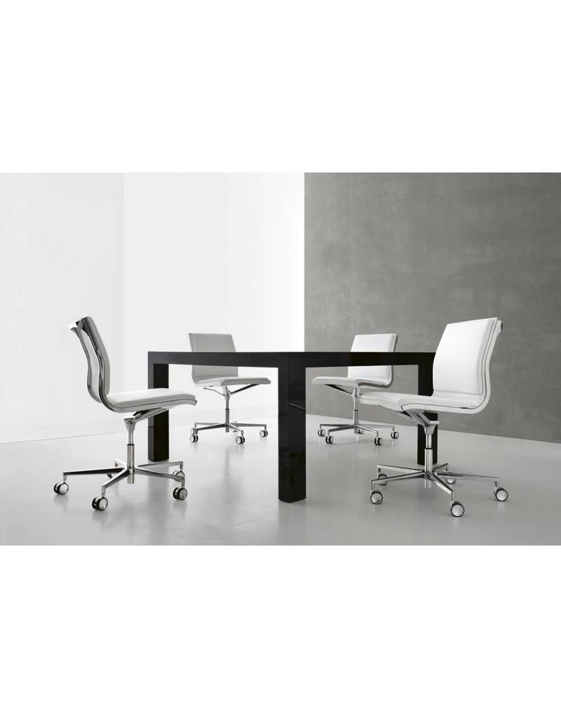 Luxy Luxy Nulite conferentiestoel, leer soft, frame chroom