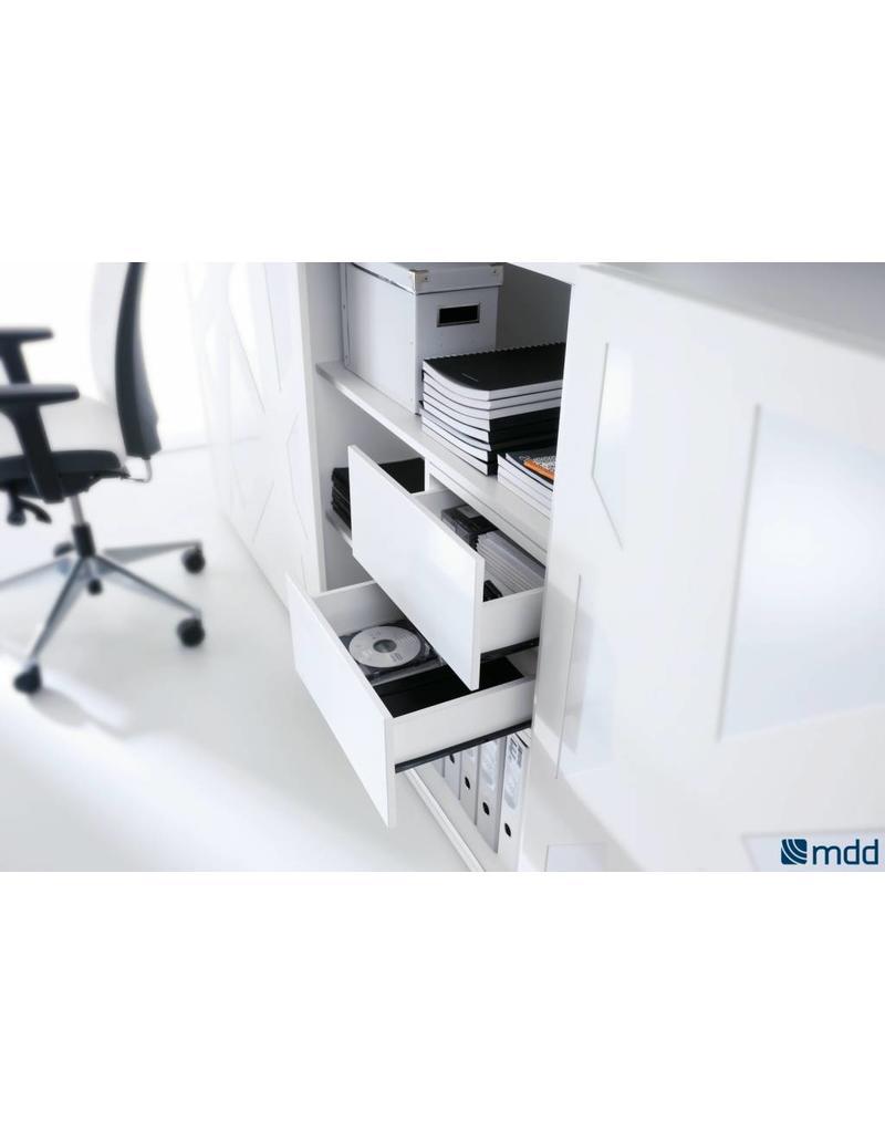MDD MDD Standard schuifdeurkast met melamine deur