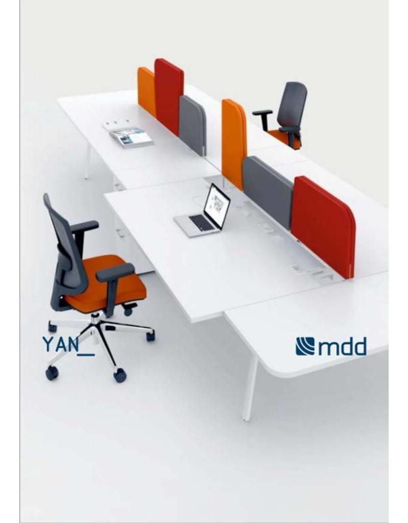 MDD MDD City stoffen akoestsiche bureauschermen voor YAN bureaus