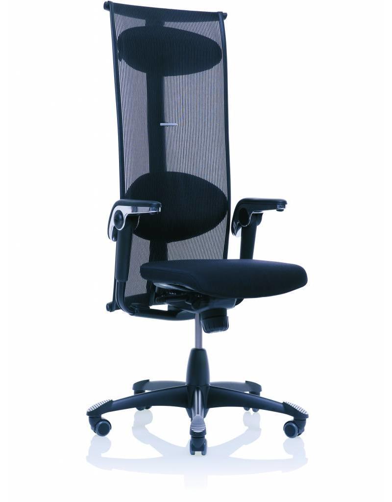 Bureaustoel Hoge Rugleuning.Hag Inspiration 9231 Bureaustoel Met Hoge Net Rugleuning En Leren Zitting