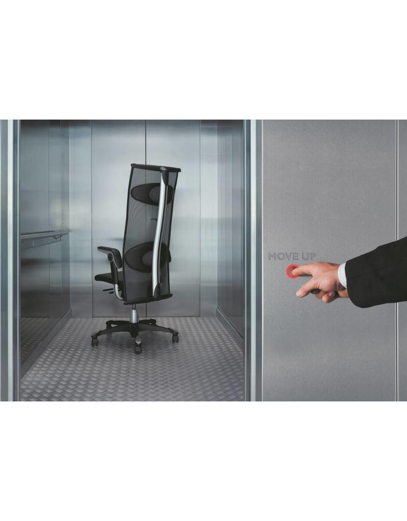 HÅG HÅG Inspiration 9231 bureaustoel met hoge net-rugleuning en leren zitting