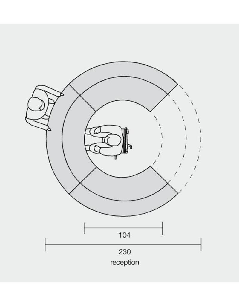 Ultom Ultom Twist ronde modulaire receptiebalie