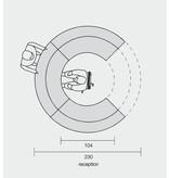 Ultom Ultom Twist modulaire ronde receptiebalie