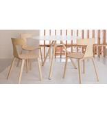 Plank Plank Remo stoel stapelbaar (houten poten)