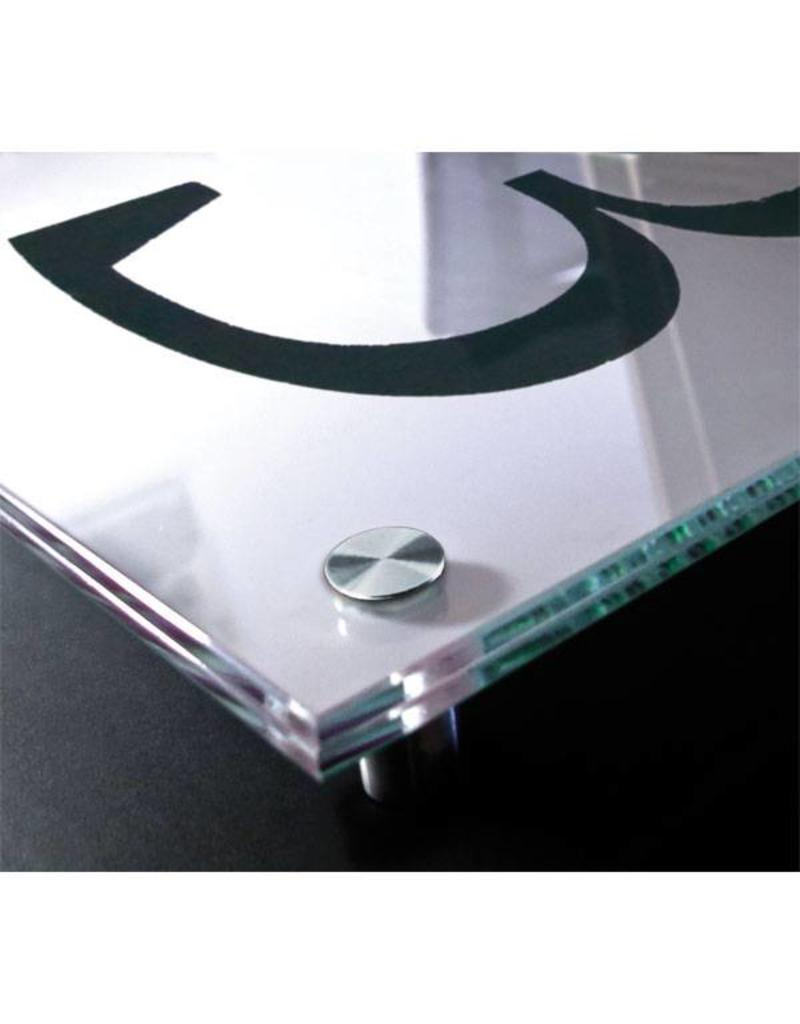 SignSystems SignSystems Cristallo glazen muurbordje A4