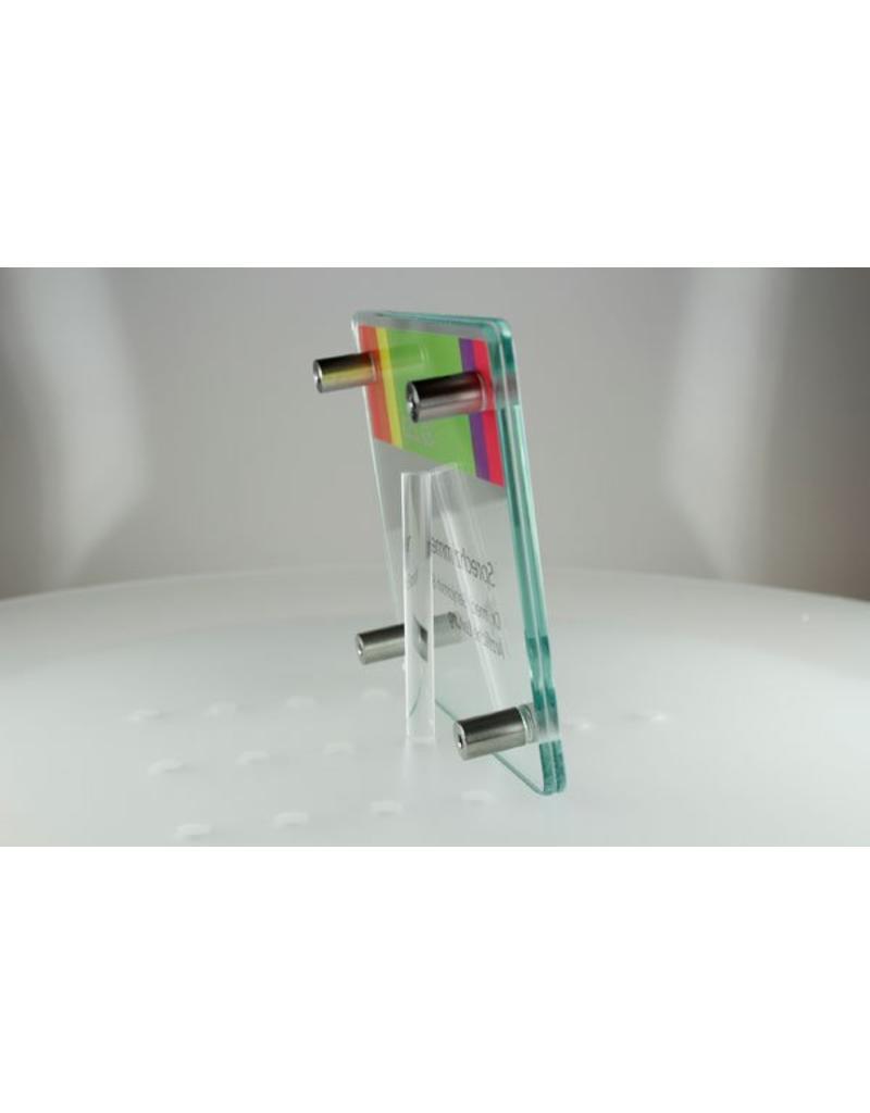 SignSystems SignSystems Cristallo glazen muurbordje 15 cm x 15 cm afgerond