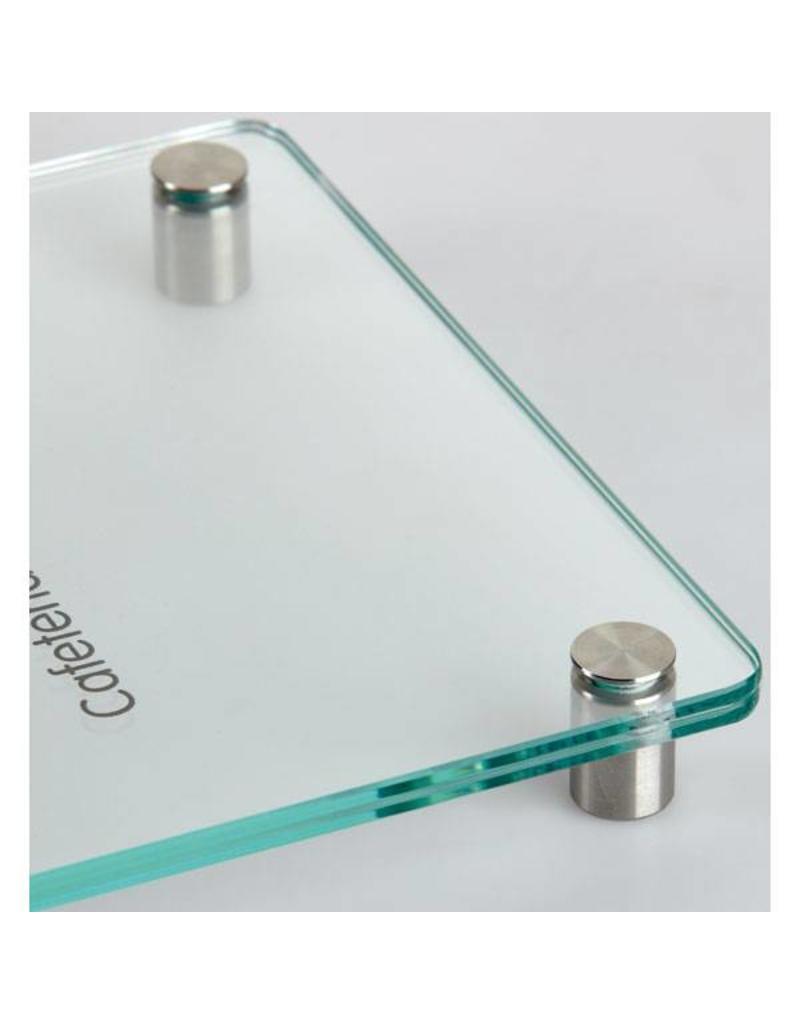 SignSystems SignSystems Cristallo glazen muurbordje 10 cm x 16 cm afgerond