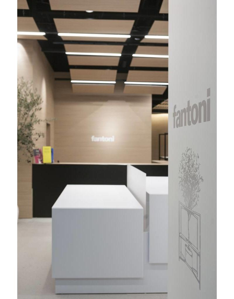 Fantoni Fantoni Quaranta5 2-persoons dubbel bureau hoogteverstelbaar, bladdiepte 75 cm