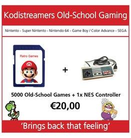 retro game set 1 controller nes incl software
