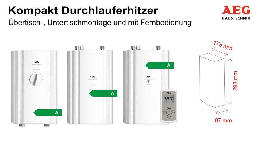 Kompakt-Durchlauferhitzer für die Küche