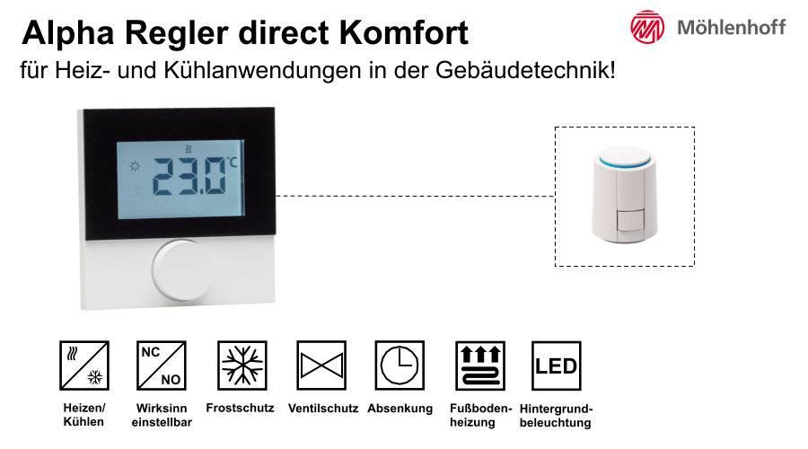 Raumthermostat Heizen/Kühlen