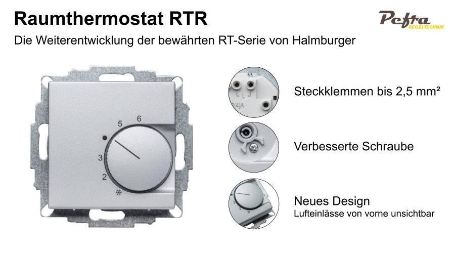 Neue Raumthermostate von Halmburger jetzt mit Steckklemmen