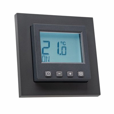 Halmburger Raumthermostat digital für Merten M-Plan/M-Pure Rahmen anthrazit matt