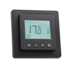 Halmburger Raumthermostat digital mit Uhr für Berker Q.1/Q.3/Q.7 Rahmen anthrazit