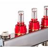 PEFRA Regeltechnik Dyna Heizkreisverteiler für Fußbodenheizung mit 2 Kreisen und automatischer Durchflussregelung inkl. Durchflussmesser