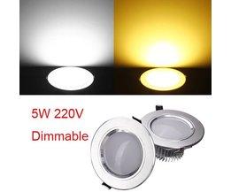 5W LED Dimbare Inbouwspot Met Driver