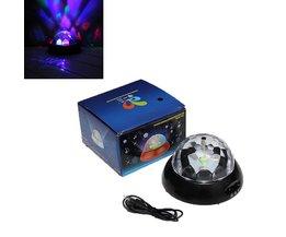 LED RGB Discobal Op Batterijen En Via USB-Kabel