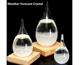 Stormglas in de Vorm van een Waterdruppel
