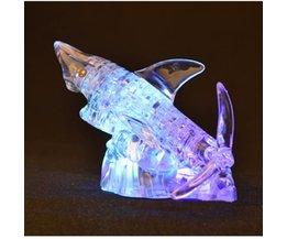 3D Puzzel Haai Kristal met Licht