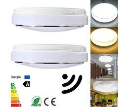 Plafondlamp Met Sensor In Twee Kleuren