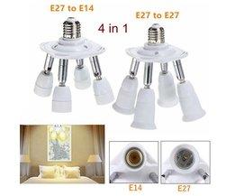 E27 4 In 1 Flexibele Lamp Splitter