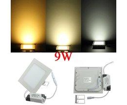 9W LED Lichtpaneel Met Driver In Verschillende Kleuren