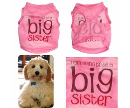 Roze Hondenshirtje Big Sister