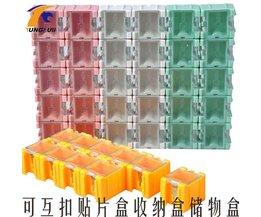 50 stks SMD SMT component container opbergdozen elektronische case kit de 1 # Automatisch opduikt patch doos MyXL