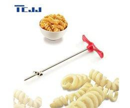 Handleiding Roller Spiral Slicer Radijs Aardappel Gereedschap Groente Spiraal Cutter Keuken Accessoires Fruit Carving Gereedschap TCJJ