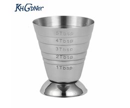 Rvs Meten SCup Ounce Jigger Bar Cocktail Drink Mixer Liquor Maatbeker Measurer Mojito Meetinstrument KHGDNOR