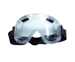 PC Lens Beschermende Bril Splash Proof Ogen Veiligheid Security Arbeid goggles Ontluchtingsventiel Opvallende Slip Midoni Wit Safurance