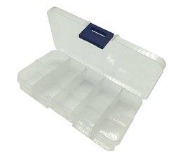 10 Slots Verstelbare Transparante Sieraden Opbergdoos Ring Oorbel Kralen Draagbare Plastic Organizer Case Reizen Bin Afneembare Doos MyXL
