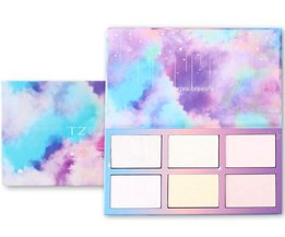 Aurora Glow Kit Palet Shimmer Highlighter Natte Zachte Poeder Crème Verlichten Gezicht Contour Rainbow Star Box Make Up Maquiagem TZ