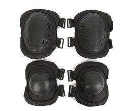 Tactische Bescherming Elbow & Kniebeschermers Set Sport Veiligheid Pads Outdoor Beschermende Apparatuur Militaire CS Paintball Sporting Unisex CCGK