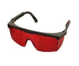 Eenvoudige Ontwerp Sterke Slagvastheid PC Materiaal Laser Beschermende Bril Licht Beschermende Goggles Rood Zwart Safurance