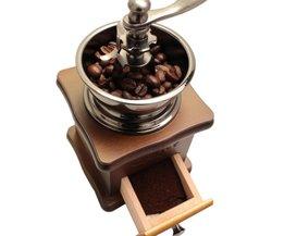 Klassieke Houten Mini Koffiemolen Handleiding Rvs Retro Koffie Spice Mill Met Hoogwaardige Porselein Beweging MyXL