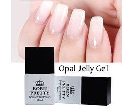 1 Fles 10 ml GEBOREN PRETTY Opaal Jelly Gel Wit Losweken Manicure Nail Art UV Gel Polish Vernis Born Pretty