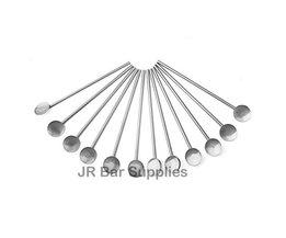 "12 STKS Set van 12 Lepel Rietjes Herbruikbare Rvs 7.5 ""Straw Stirrers Feestartikelen Bar Gereedschap kingdom barware"